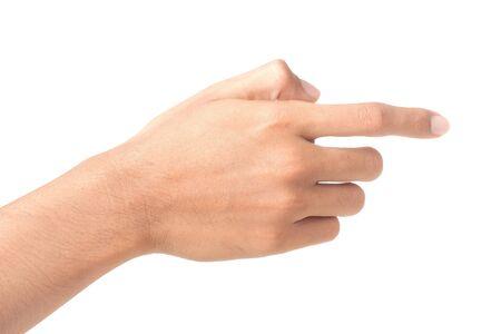 gesture of hand touching screen Stock Photo - 8892479
