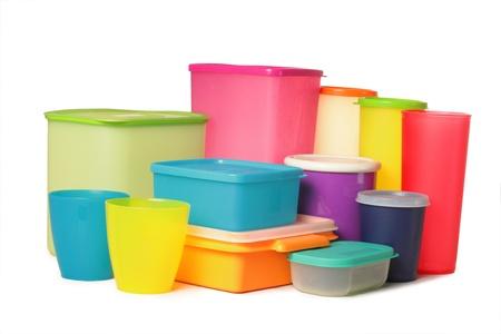 envases plasticos: embalaje sobre fondo blanco