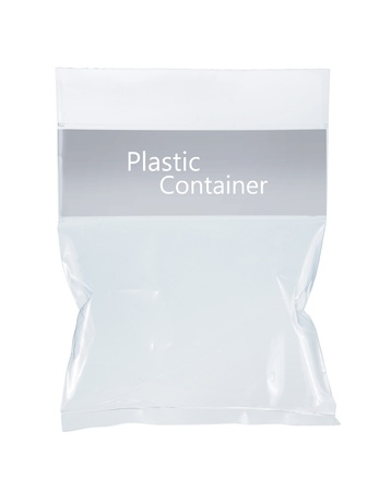 transparent plastic pack. isolated over white background Stock Photo - 9090835
