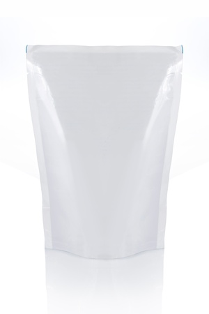 plastic bags: food bag ready for your design. isolated over white background