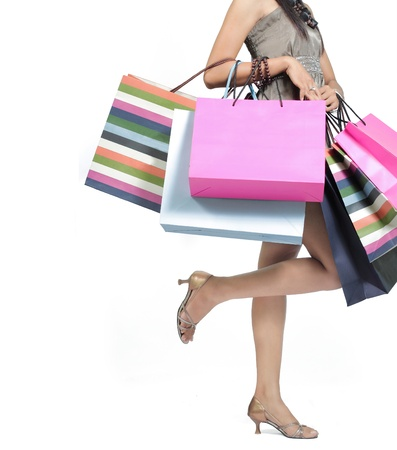 Beautiful woman with a lot of shopping bags Stock Photo - 9204042