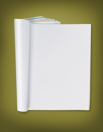 blank page of magazine. ready for design Stock Photo - 9204113