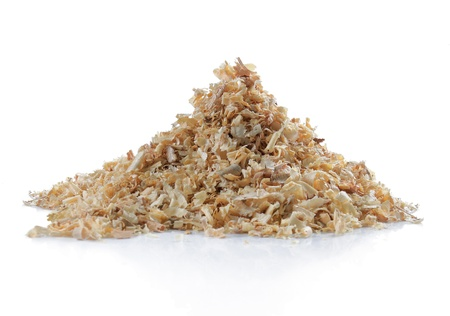 pile of natural sawdust textured background photo
