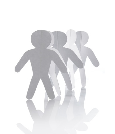 �resource: Gente de cadena recorte de papel - concepto de grupo o equipo