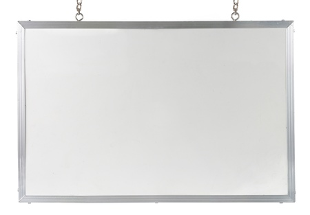 magnetic: White board isolated over white background