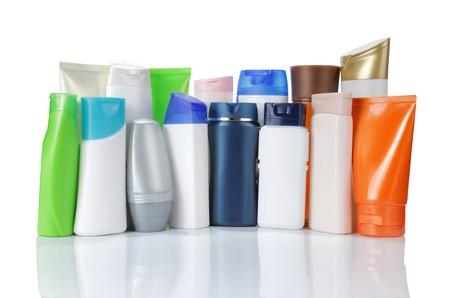 Große Gruppe von Produktverpackungen. isolated over white background Standard-Bild - 9607728