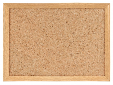 cork board: Cork board isolated over white background
