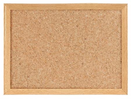 leeg bord: Kurk boord geà ¯ soleerde over witte achtergrond
