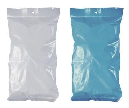 Snack Chips Kunststoff Pack. isoliert auf weiss Standard-Bild