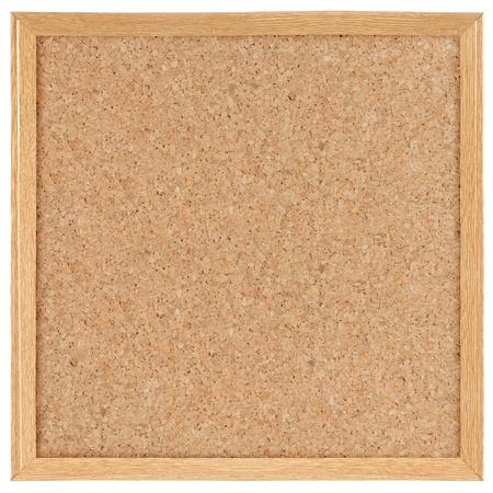 planche: Conseil de carr�s de cork. isol� sur blanc Banque d'images