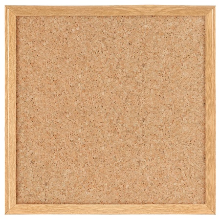 blank board: square cork board. isolated over white