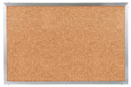 Cork board with aluminum frame. isolated on white Stock Photo - 9686738