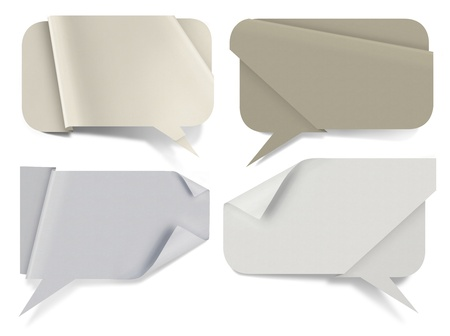 Paper speech bubbles, of high resolution paper textures photo