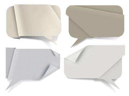 Papier Sprechblasen, hochauflösendes Papier Texturen