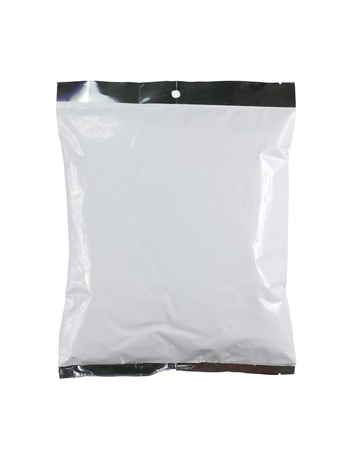 chips plastic pack. isolated over white background photo