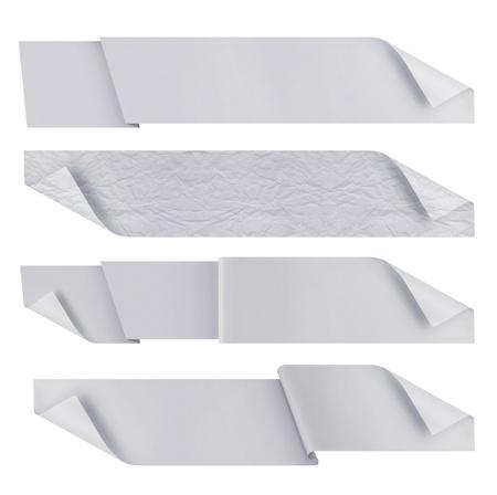Weiß polygonalen Origami Bändern. bereit für Ihren Text Standard-Bild - 9848819