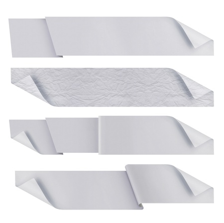 samples: white polygonal origami ribbons. ready for your text Stock Photo