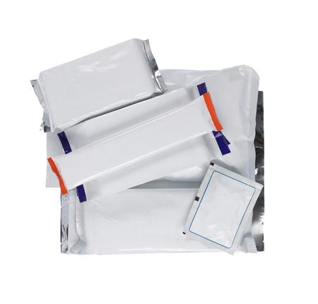 Gruppe von Produkt-Pack auf weiß isoliert
