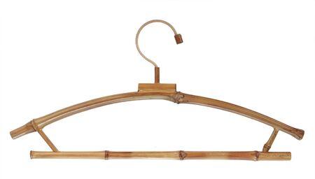 house coats: coat hanger isolated over white background Stock Photo