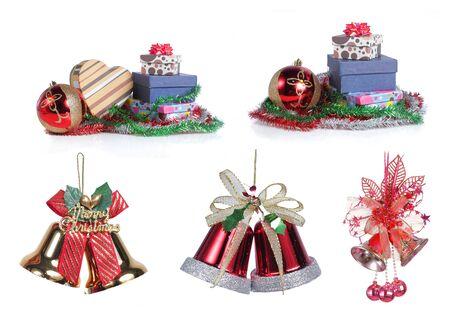 christmas item isolated on white background. each one shot separately photo