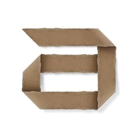 Origami-Stil Buchstaben des Alphabets. hoher Auflösung auf weißem Hintergrund. ein