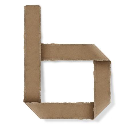 Origami-Stil Buchstaben des Alphabets. hoher Auflösung auf weißem Hintergrund. b
