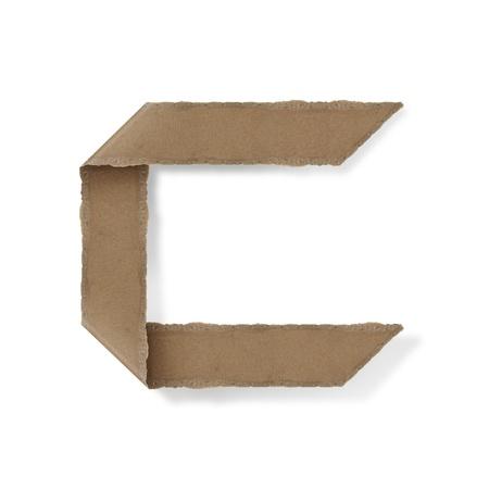 Origami-Stil Buchstaben des Alphabets. hoher Auflösung auf weißem Hintergrund. c