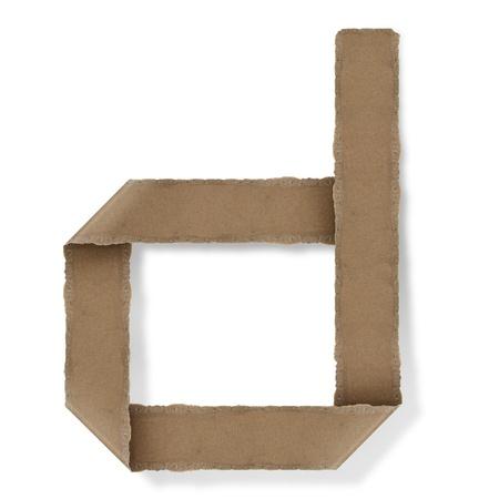 Origami-Stil Buchstaben des Alphabets. hoher Auflösung auf weißem Hintergrund. d
