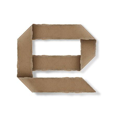 Origami-Stil Buchstaben des Alphabets. hoher Auflösung auf weißem Hintergrund. e Standard-Bild