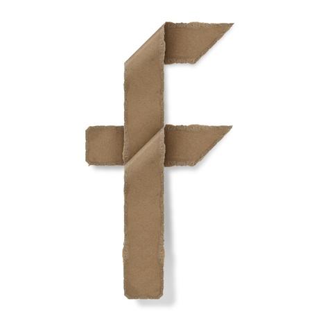 Origami-Stil Buchstaben des Alphabets. hoher Auflösung auf weißem Hintergrund. f Standard-Bild