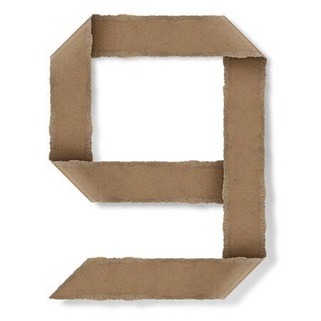 Origami-Stil Buchstaben des Alphabets. hoher Auflösung auf weißem Hintergrund. g Standard-Bild