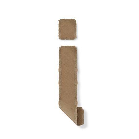 Origami-Stil Buchstaben des Alphabets. hoher Auflösung auf weißem Hintergrund. ich Standard-Bild