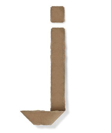 Origami-Stil Buchstaben des Alphabets. hoher Auflösung auf weißem Hintergrund. j