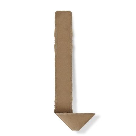 Origami-Stil Buchstaben des Alphabets. hoher Auflösung auf weißem Hintergrund. l