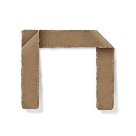 Origami-Stil Buchstaben des Alphabets. hoher Auflösung auf weißem Hintergrund. n