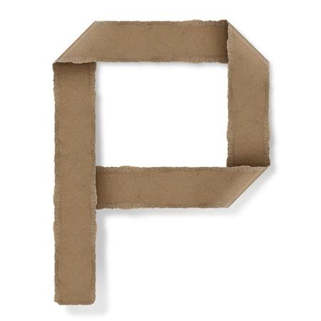 Origami-Stil Buchstaben des Alphabets. hoher Auflösung auf weißem Hintergrund. p Standard-Bild