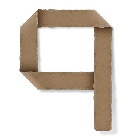 Origami-Stil Buchstaben des Alphabets. hoher Auflösung auf weißem Hintergrund. q