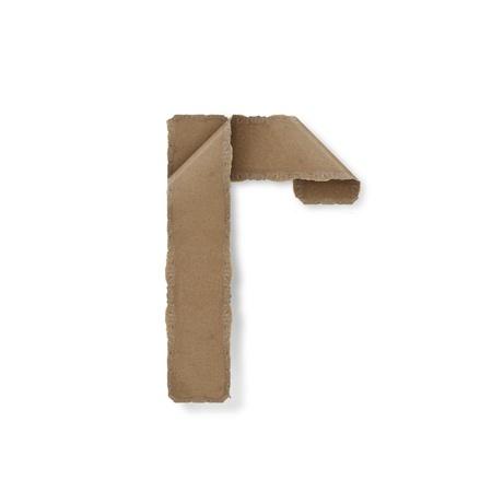 Origami-Stil Buchstaben des Alphabets. hoher Auflösung auf weißem Hintergrund. r