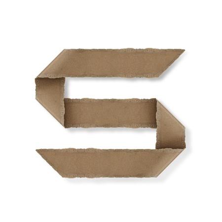 Origami-Stil Buchstaben des Alphabets. hoher Auflösung auf weißem Hintergrund. s Standard-Bild