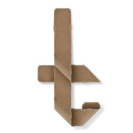 Origami-Stil Buchstaben des Alphabets. hoher Auflösung auf weißem Hintergrund. t