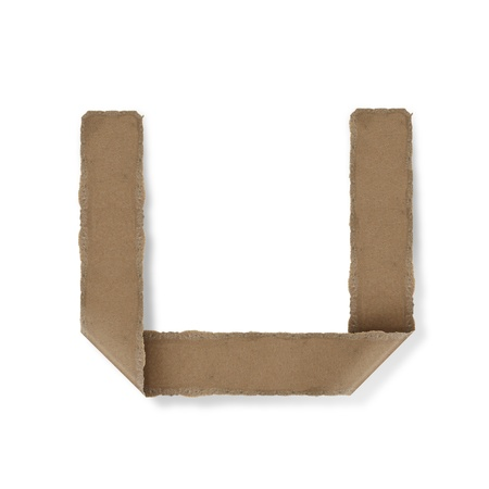 Origami-Stil Buchstaben des Alphabets. hoher Auflösung auf weißem Hintergrund. u