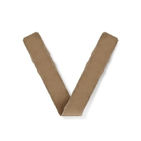 Origami-Stil Buchstaben des Alphabets. hoher Auflösung auf weißem Hintergrund. v Standard-Bild