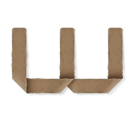Origami-Stil Buchstaben des Alphabets. hoher Auflösung auf weißem Hintergrund. w Standard-Bild