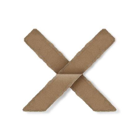 Origami-Stil Buchstaben des Alphabets. hoher Auflösung auf weißem Hintergrund. x