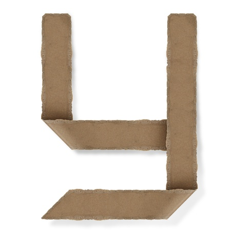 Origami-Stil Buchstaben des Alphabets. hoher Auflösung auf weißem Hintergrund. y