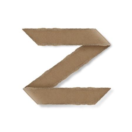 Origami-Stil Buchstaben des Alphabets. hoher Auflösung auf weißem Hintergrund. z Standard-Bild
