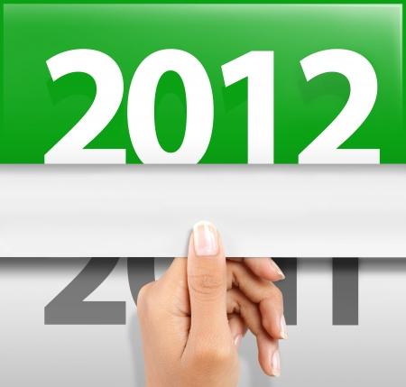 Symbol der frohes neues Jahr 2012 Standard-Bild - 10693131
