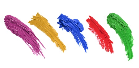 strokes of paint brush isolated on white background. each one shoot separately photo