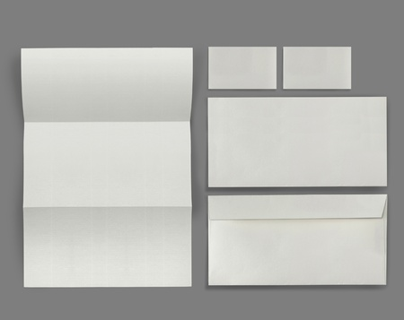 blank business card: set of corporate identity templates. each one shot separately, for another blank templates visit my gallery Stock Photo