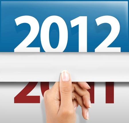 Symbol des guten Rutsch ins neue Jahr 2012 Standard-Bild